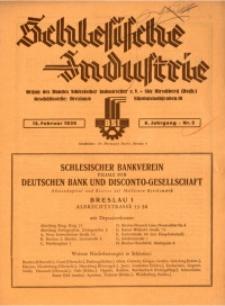 Schlesische Industrie, 1930, Jg. 6, Nr. 2