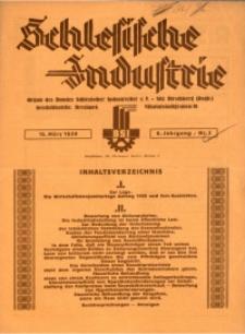 Schlesische Industrie, 1930, Jg. 6, Nr. 3