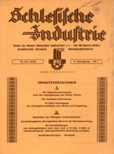 Schlesische Industrie, 1930, Jg. 6, Nr. 7