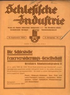 Schlesische Industrie, 1930, Jg. 6, Nr. 9