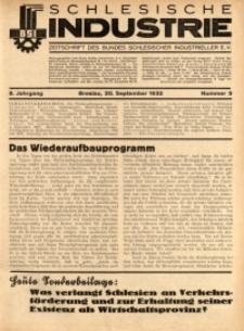 Schlesische Industrie, 1932, Jg. 8, Nr. 9