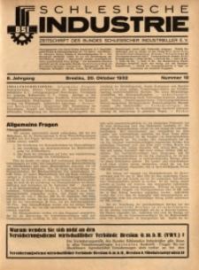 Schlesische Industrie, 1932, Jg. 8, Nr. 10