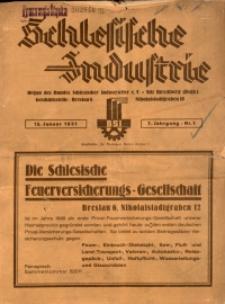 Schlesische Industrie, 1931, Jg. 7, Nr. 1