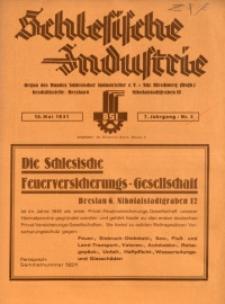 Schlesische Industrie, 1931, Jg. 7, Nr. 5