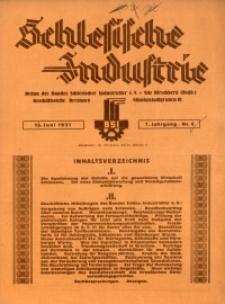 Schlesische Industrie, 1931, Jg. 7, Nr. 6