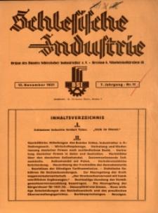 Schlesische Industrie, 1931, Jg. 7, Nr. 11