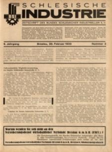 Schlesische Industrie, 1933, Jg. 9, Nr. 2