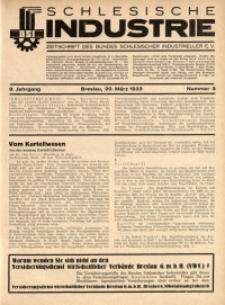 Schlesische Industrie, 1933, Jg. 9, Nr. 3
