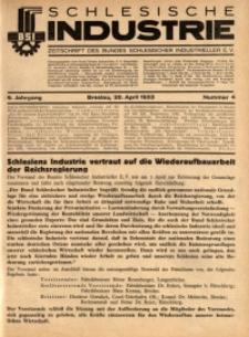 Schlesische Industrie, 1933, Jg. 9, Nr. 4