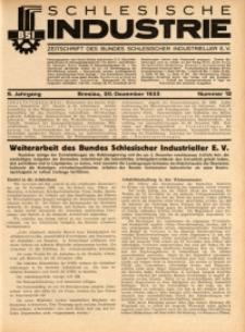 Schlesische Industrie, 1933, Jg. 9, Nr. 12