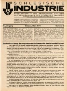 Schlesische Industrie, 1934, Jg. 10, Nr. 3