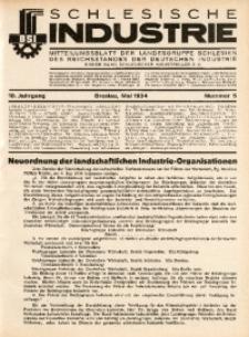 Schlesische Industrie, 1934, Jg. 10, Nr. 5