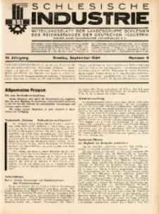 Schlesische Industrie, 1934, Jg. 10, Nr. 9