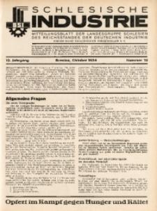 Schlesische Industrie, 1934, Jg. 10, Nr. 10