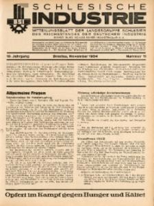 Schlesische Industrie, 1934, Jg. 10, Nr. 11