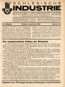 Schlesische Industrie, 1934, Jg. 10, Nr. 12