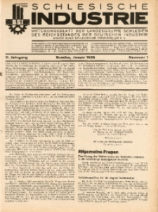 Schlesische Industrie, 1935, Jg. 11, Nr. 1