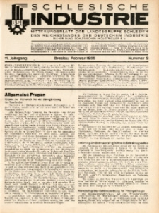 Schlesische Industrie, 1935, Jg. 11, Nr. 2