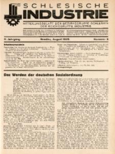 Schlesische Industrie, 1935, Jg. 11, Nr. 8
