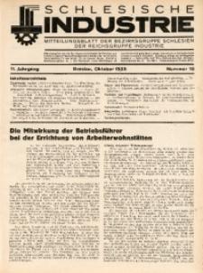 Schlesische Industrie, 1935, Jg. 11, Nr. 10
