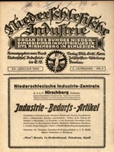 Niederschlesische Industrie, 1926, Jg. 2, Nr. 2