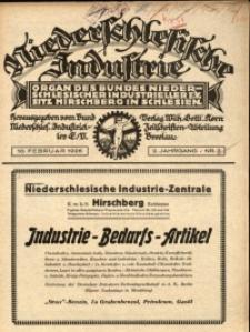 Niederschlesische Industrie, 1926, Jg. 2, Nr. 3