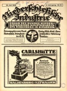 Niederschlesische Industrie, 1926, Jg. 2, Nr. 14