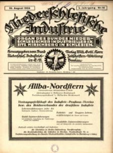 Niederschlesische Industrie, 1926, Jg. 2, Nr. 16