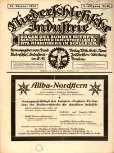 Niederschlesische Industrie, 1926, Jg. 2, Nr. 20