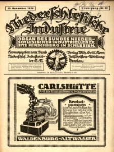 Niederschlesische Industrie, 1926, Jg. 2, Nr. 22