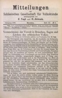 Mitteilungen der Schlesischen Gesellschaft für Volkskunde, 1896/1897, Bd. 2, H. 3, No 5