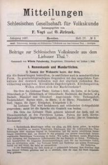 Mitteilungen der Schlesischen Gesellschaft für Volkskunde, 1896/1897, Bd. 2, H. 4, No 2