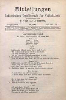 Mitteilungen der Schlesischen Gesellschaft für Volkskunde, 1900/1901, Bd. 4, H. 7, No 1