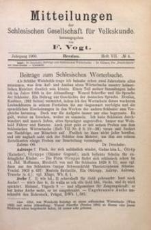 Mitteilungen der Schlesischen Gesellschaft für Volkskunde, 1900/1901, Bd. 4, H. 7, No 4