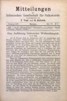Mitteilungen der Schlesischen Gesellschaft für Volkskunde, 1898/1899, Bd. 3, H. 6, No 2
