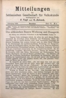 Mitteilungen der Schlesischen Gesellschaft für Volkskunde, 1898/1899, Bd. 3, H. 6, No 4