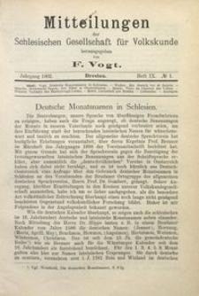 Mitteilungen der Schlesischen Gesellschaft für Volkskunde, 1902/1903, Bd. 5, H. 9, No 1