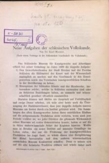 Mitteilungen der Schlesischen Gesellschaft für Volkskunde, 1905, Bd. 7, H. 13