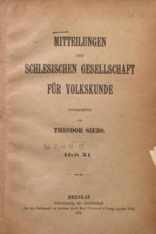 Mitteilungen der Schlesischen Gesellschaft für Volkskunde, 1904, Bd. 6, H. 11