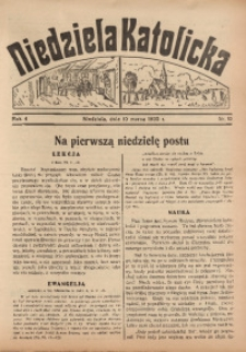 Niedziela Katolicka, 1935, R. 4, nr 10