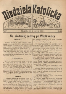 Niedziela Katolicka, 1935, R. 4, nr 22