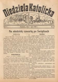 Niedziela Katolicka, 1935, R. 4, nr 27