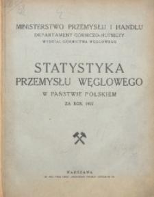 Statystyka Przemysłu Węglowego w Państwie Polskiem za rok 1927