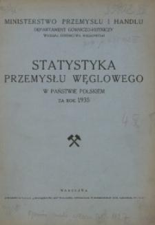Statystyka Przemysłu Węglowego w Państwie Polskiem za rok 1935