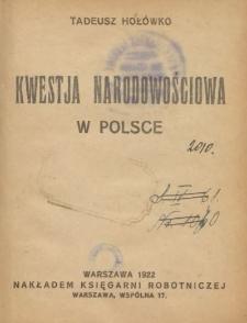 Kwestia narodowościowa w Polsce