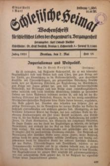 Schlesische Heimat, 1921, H. 18