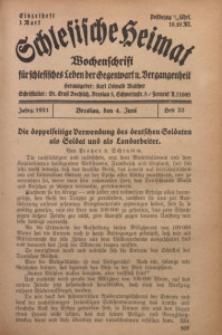 Schlesische Heimat, 1921, H. 22