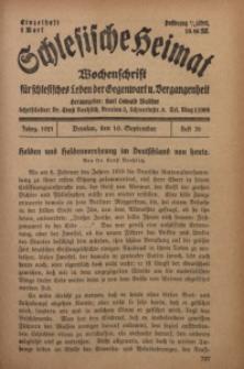 Schlesische Heimat, 1921, H. 36