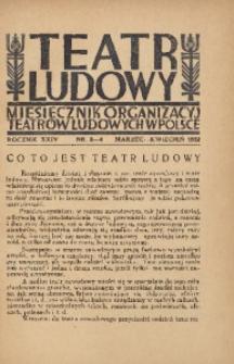 Teatr Ludowy, 1932, R. 24, nr 3/4