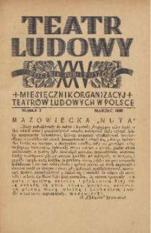 Teatr Ludowy, 1933, R. 25, nr 3